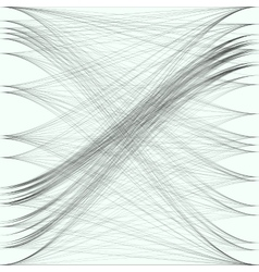 Abstract black waves and lines Gray color chaotic vector image