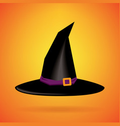 Witch hat isolated background happy halloween day vector