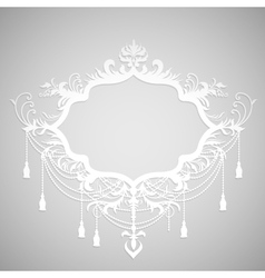 Background with paper calligraphic frame vector