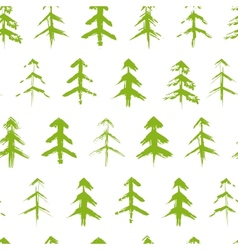 Grungy chrismas tree seamless pattern vector image