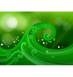 Green gradient design vector
