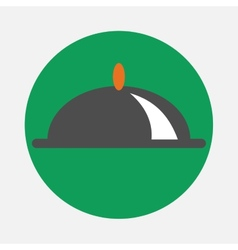 Covered dish icon vector