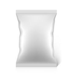 Blank snacks food foil packaging bag vector image