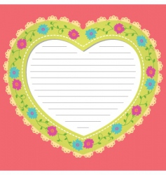 Love frame vector