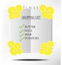 Shopping list vector