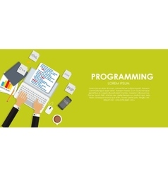 Programming coding concept flat background vector