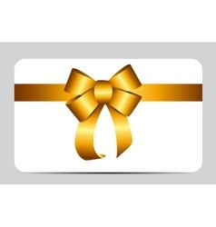Gold gift ribbon vector