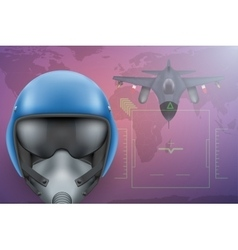 Military pilot background vector
