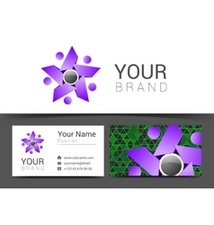 Creative card for your business with gray and vector