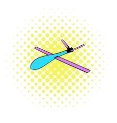Glider icon comics style vector image