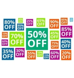 Discount colorful vector