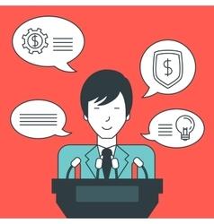 Businessman giving speech vector image