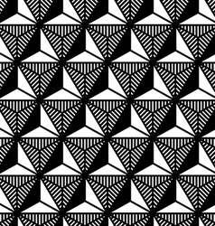 Abstract black and white triangle geometric vector