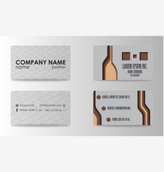 Business card for print vector