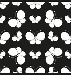 Butterflies silhouettes pattern vector
