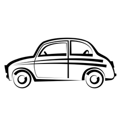 Car freehand drawing icon black and white vector