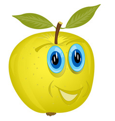 Cartoon alive apple vector