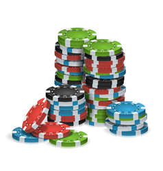 casino chips stacks isolated realistic vector image