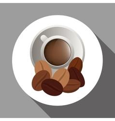 Coffee design breakfast conceptl white vector