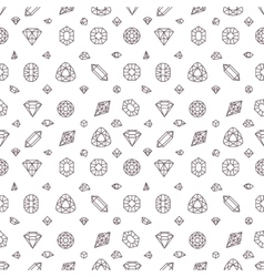 Crystal diamonds miner stones seamless vector image