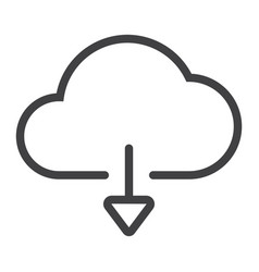 download from cloud line icon web and mobile vector image vector image