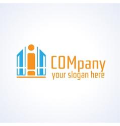 Education information or building company logo vector