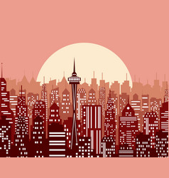 Evening cityscape vector