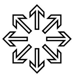 Explode arrows outline icon vector