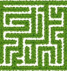 Green Maze vector image vector image