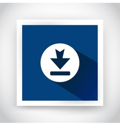 Icon of download for web and mobile applications vector image vector image