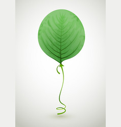leaf air balloon green eco concept vector image vector image