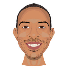 ludacris face icon in flat style vector image vector image