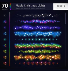Magic Christmas Lights vector image