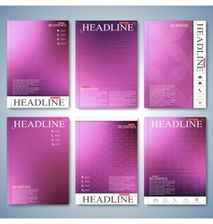 Modern set of brochure flyer booklet cover or vector