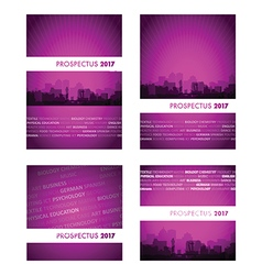 Prospectus pink group vector