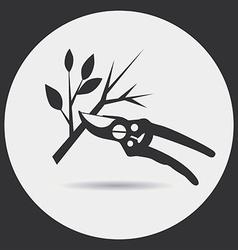 Pruning secateurs vector image