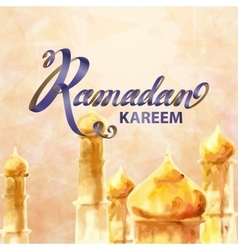 Ramadan kareem and ramadane vector