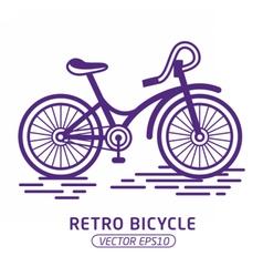 RetroBicycle01 vector image