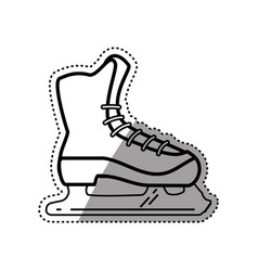 Rollers and ice skates sport vector