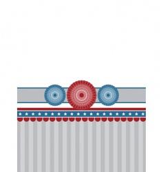 rosette banner background vector image vector image