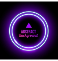 Round border with light effects vector