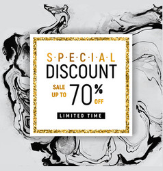 special discount square golden banner template vector image vector image