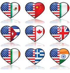 USA divided love vector image vector image