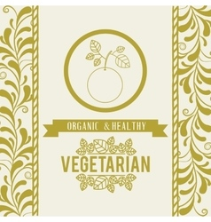 vegetarian food menu design vector image