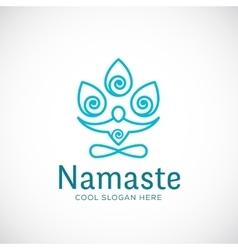 Yoga namaste or zen meditation abstract vector