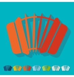 Flat design accordion vector