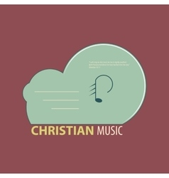 Christian music icon vector