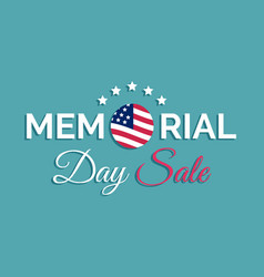 Happy memorial day sale cardnational vector