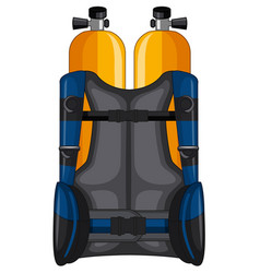 Oxygen tank and safety jacket vector