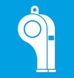Whistle icon white vector